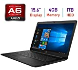 2019 HP Flagship 15.6-inch HD WLED-Backlit Laptop PC, AMD Dual-Core A6-9225 2.6GHz Processor, 4GB DDR4 SDRAM, 1TB HDD, DVD-RW, Bluetooth, USB 3.1, HDMI, WiFi, AMD Radeon Graphics, Webcam, Windows 10