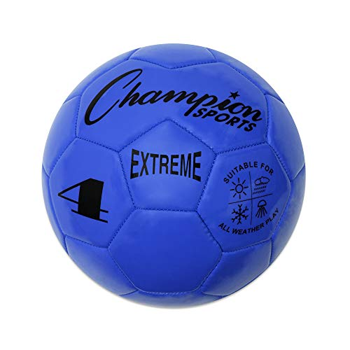 Extreme Series Soccer Ball, Size 4 - Youth League, All Weather, Soft Touch, Maximum Air Retention - Kick Balls for Kids 8 - 12 - Competitive and Recreational Futbol Games, Blue