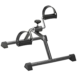 Drive Medical Exercise Peddler with Attractive Silver Vein Finish, Silver Vein