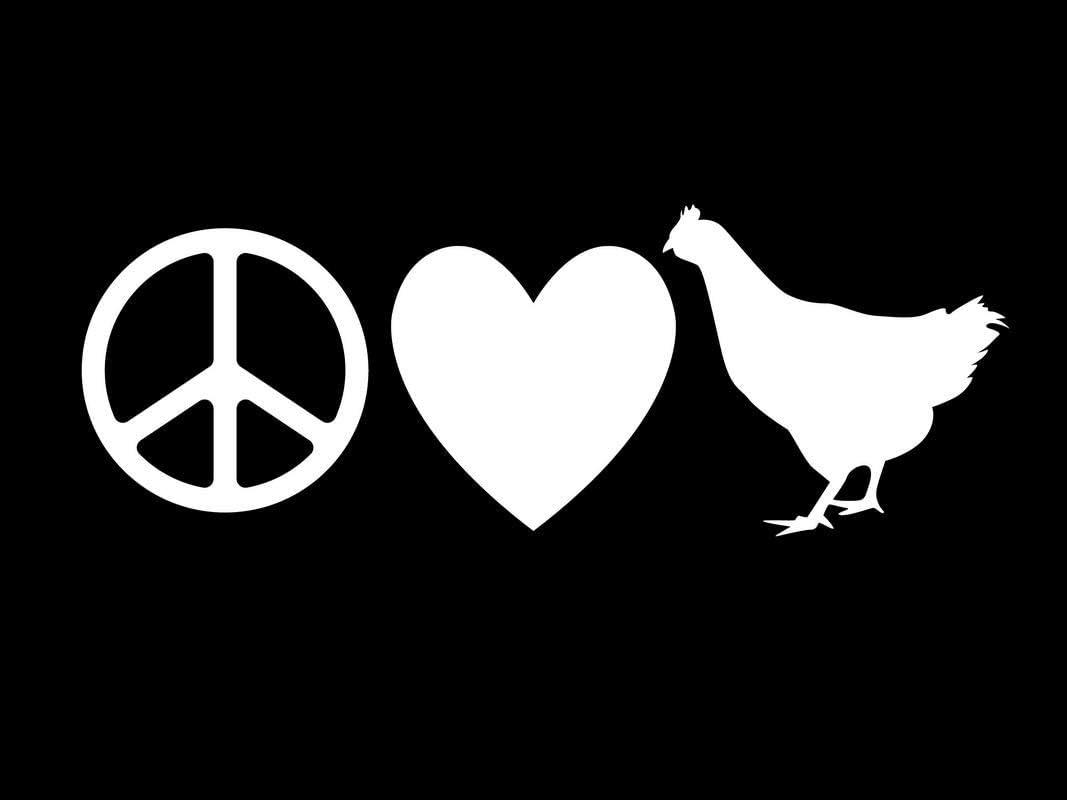 Peace Love Chickens Funny NOK Decal Vinyl Sticker |Cars Trucks Vans Walls Laptop|White|7.5 x 3.0 in|NOK137