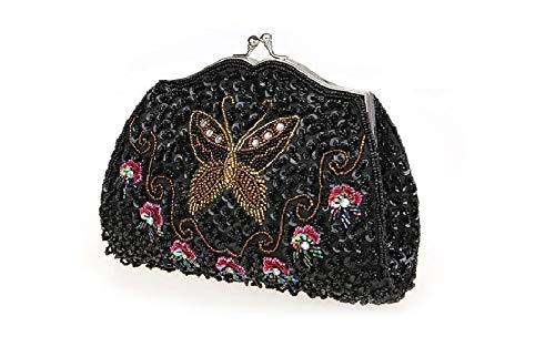 Soirée d'autres fériés à Femme Pochette Sacs 8x5inch Bal de E Perles de Nouveau soirée A Bridal Exquis Jours Main Sac soirée Et Style 21x12cm Z67wxAqE