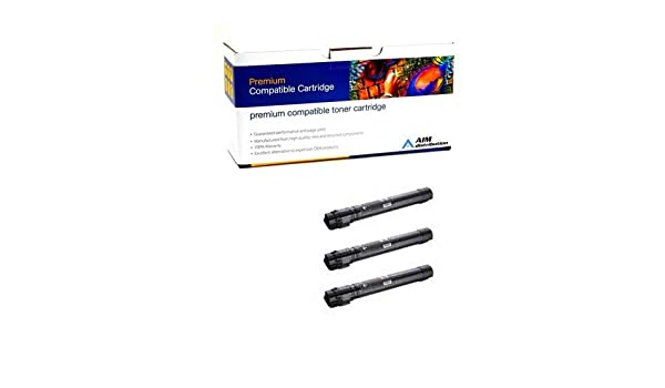 3//PK-22000 Page Yield AIM Compatible Replacement for Xerox WorkCentre 7120//7125//7220//7225 Black Toner Cartridge 6R14573PK - Generic