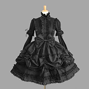 93fcdbcda ゴスロリィタ Lolita ロリータ服 衣装 洋服 COSMAMA LLTLZY0044 ブラック 袖の取り外しが可能 長袖・