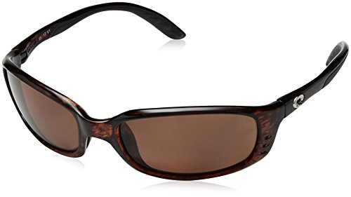 Costa Del Mar Brine Polarized Sunglasses, Tortoise, Copper ()