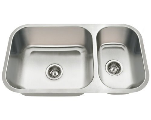 Polaris Sinks PB8123-R Undermount Stainless Steel Kitchen Sink by Polaris Sinks by Polaris Sinks