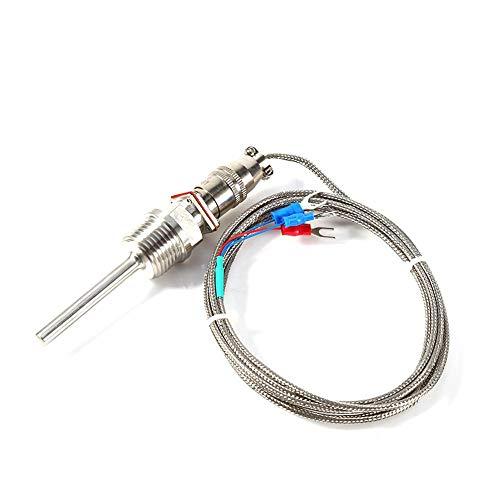 Akozon RTD PT100 Waterproof Temperature Sensor 1/2