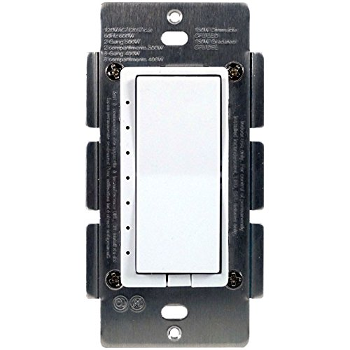 HomeSeer HS-WD100+ Z-Wave Plus Scene-Capable Wall Dimmer, Works with Amazon (Scene Dimmer)