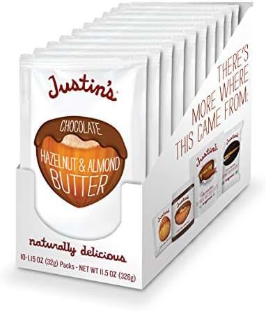 Peanut & Nut Butters: Justin's Hazelnut Butter Squeeze Packs