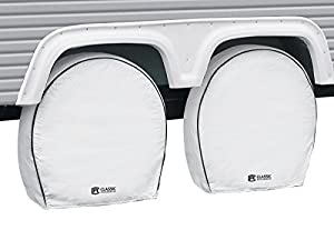 Classic Accessories 80-221-152302-00 White 26.75 - 29 Diameter x 8.5 Width RV Deluxe Wheel Cover, (Pack of 4) by Classic Accessories