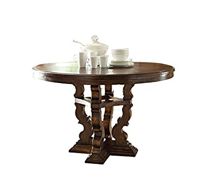 Amazoncom JWLC Imports X Verona Round Dining Table Tables - 30 x 42 dining table
