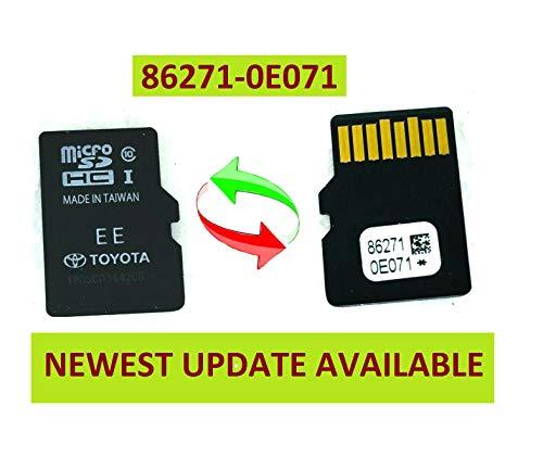 Original Toyota Navigation Micro SD Card Map Data OEM 86271 0E071 Latest Update