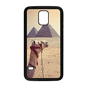 Egypt Pyramids Series, Samsung Galaxy S5 Cases, the Pyramids in Egypt and the Camel Cases for Samsung Galaxy S5 [Black]
