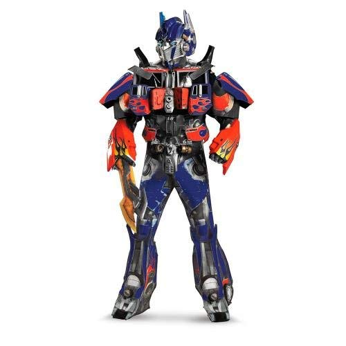 KF Optimus Prime Transformers Adult Costume Mascot Blue Red Robot Halloween Cosplay ()