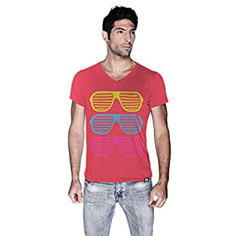 Creo Beach Cool Glasses T-Shirt For Men - Xl, Pink