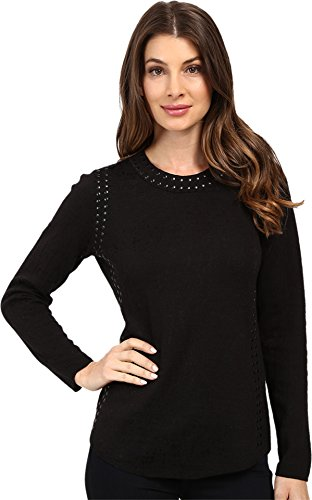 NIC+ZOE Women's Grommet Top, Black Onyx, X-Large (Womens Grommet)