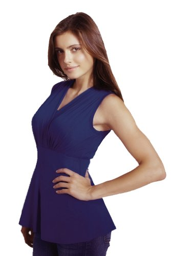 Maternal America Tummy Tuck Sleeveless Compression Top - Navy - (Maternal America Maternity Sleeveless Top)