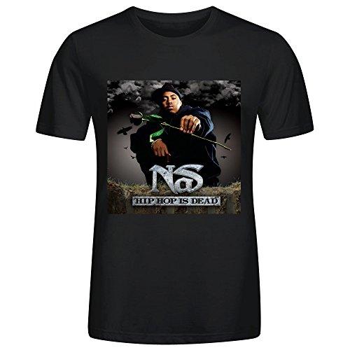 Nas Hip Hop Is Dead Adult Men T Shirts Black