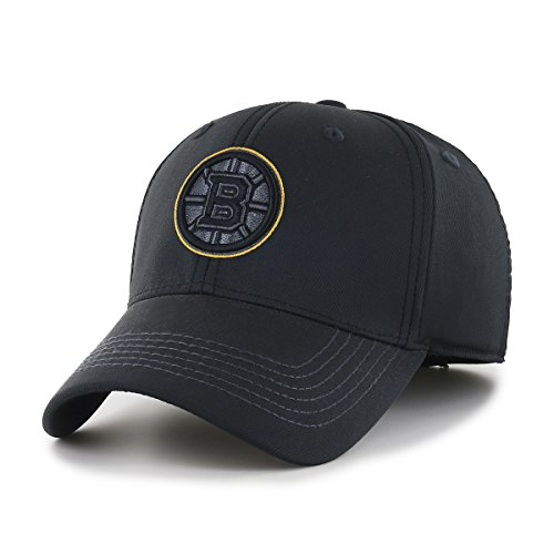(OTS NHL Boston Bruins Wilder Center Stretch Fit Hat, Black, Large/X-Large)
