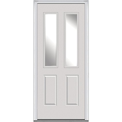 National Door Company Z000790R Steel Primed, Right Hand In-swing, Prehung Front Door, 2-1/2 Lite 2-Panel, Clear Glass, 36'' x 80'' by National Door Company