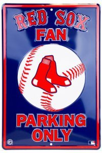 (Dixie Boston Red Sox Fan Metal Parking Sign )