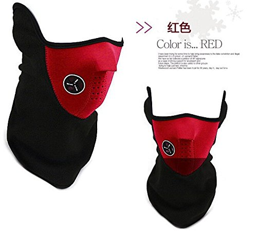 [Winter Ski Mask Windproof Cycling Riding Mask Dust Protecting Mask (Red)] (Deluxe Smoke Mask)