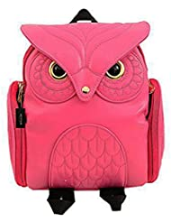 HEYFAIR Women Cute Owl Leather Backpack Casual College Bags Daypacks Boys Girls