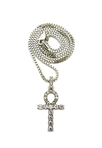 Micro Pave Egyptian Ankh Cross Pendant 24