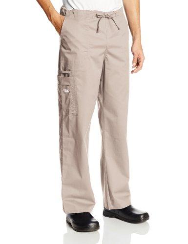 (Cherokee Big and Tall Premium Core Stretch Unisex Cargo Scrubs Pant, Khaki, XX-Large)