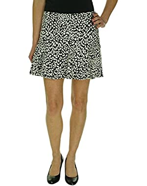 Guess Womens Textured Above Knee A-Line Skirt B/W 6