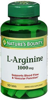 (Nature's Bounty L-Arginine 1000 mg Amino Acid Supplement Tablets - 50 ct, Pack of 4 )