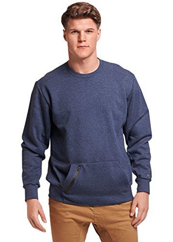 Russell Athletic Men's Cotton Rich Fleece Sweatshirt, Navy Heather, XL