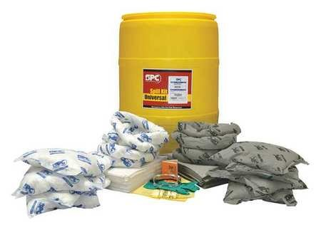 Spill Kit, Universal, Yellow by BRADY SPC ABSORBENTS