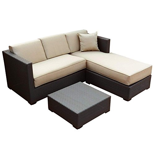 Abba Patio Furniture Set 3 Piece Outdoor...