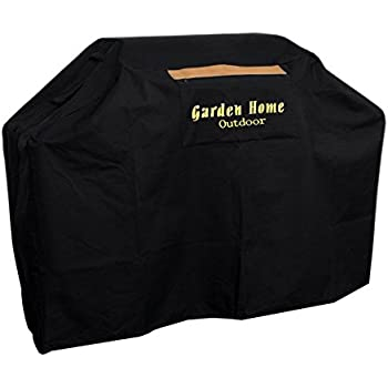 Garden Home Outdoor Grill Cover 72-Inch for Weber, Holland, Jenn Air, Brinkmann and Char Broil, Black