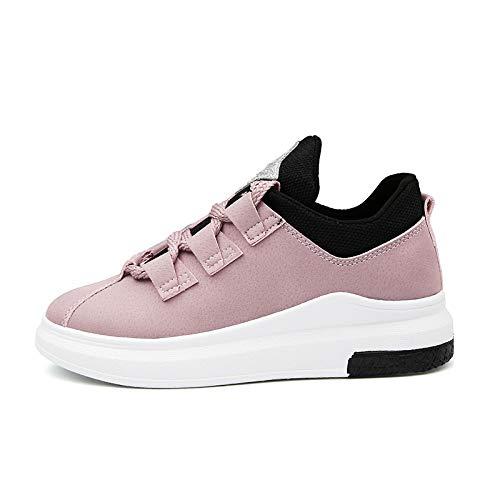 GUNAINDMX Zapatillas de Deporte Respirables de la Moda Señora Zapatos Casuales Zapatillas de Deporte cómodas de la Primavera de la Plataforma pink