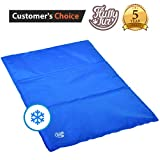 Dog Self Cooling Mat - Best Puppy Cold Gel Pad for Bed Crate