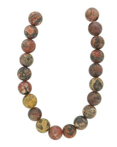 Tennessee Crafts 1233 Semi Precious Leopard Skin Jasper Beads, Round, 10mm ()
