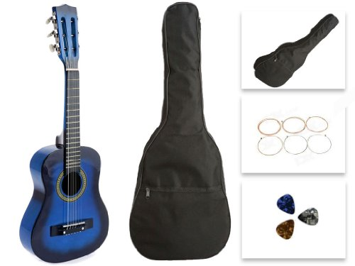Star Kids Acoustic Toy Guitar 27 Inches Blue with Bag, Strings & Picks, CG621-BSP-BL by Star