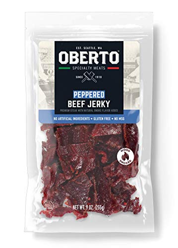 Oberto Specialty Meats Peppered Beef Jerky, 9 Ounce