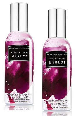 Concentrated Bath (Bath and Body Works 2 Pack Concentrated Room Spray Black Cherry Merlot 1.50 Oz.)
