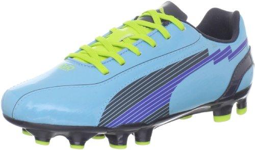 PUMA Women's Evospeed 5 FG Soccer Shoe,Blue Mist/New Navy/Lime Punch,7.5 B US by PUMA