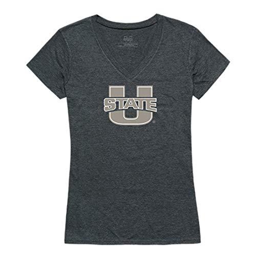 (W Republic Utah State University USU Aggies Womens Cinder Tee T-Shirt Heather Charcoal Small )
