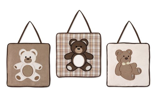 Sweet Jojo Designs Chocolate Teddy Bear Wall Hanging Accessories