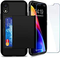 iPhone 11 Case with Card Holder and[ Screen Protector x2][Protective Series]SUPBEC iPhone 11 Wallet Shockproof Silicone...