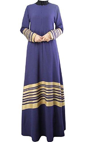 Abaya donne Coolred Blu Violaceo Giuntura Vestito Con Musulmani Maniche Lunghe Palangari AZEw4