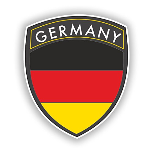 2 x 10cm/100mm Germany Flag Design Vinyl Stickers Travel Luggage #10622 ()