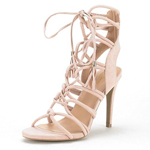 6acd0d3cadb8e DREAM PAIRS STRAWS Women's New Strappy Gladiator High Heel ...