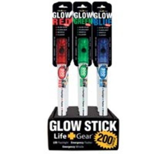 200 Hr Glow Stick - Life Gear LG151 Glow Stick Flashlight, LED, 200 hr