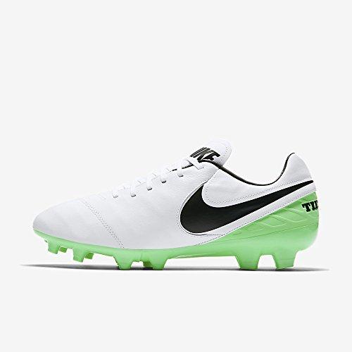 Nike Tiempo Mystic V FG, Scarpe da Calcio Uomo White/Black Electro Green