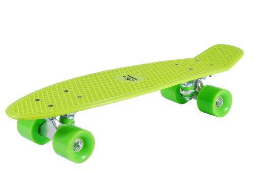 HUDORA Unisex - Kinder 12136 Retro Skateboard, zitrone grün